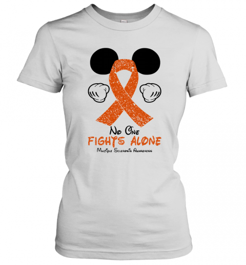 Mickey Mouse No One Fights Alone Multiple Sclerosis Awareness T-Shirt Classic Women's T-shirt