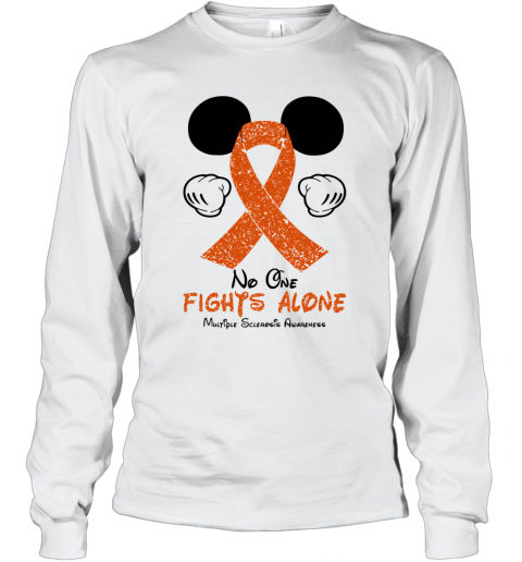 Mickey Mouse No One Fights Alone Multiple Sclerosis Awareness T-Shirt Long Sleeved T-shirt