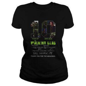 10 Years Of The Walking Dead 2010 2020 Anniversary  Classic Ladies