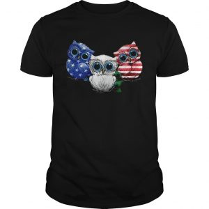 4th July Three Owl American Flag  Unisex