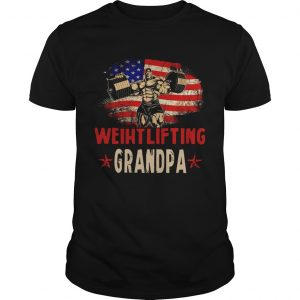 American Flag Weightlifting Grandpa  Unisex