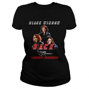 Black Widow Back Scarlett Johansson Signature  Classic Ladies