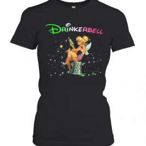 Disney Tinkerbell Drinkerbell American Flag Independence Day T-Shirt Classic Women's T-shirt