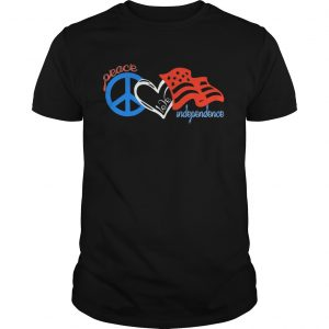 Peace love independence day american flag  Unisex