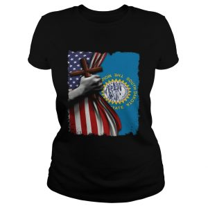 South dakota american flag cross happy independence day  Classic Ladies